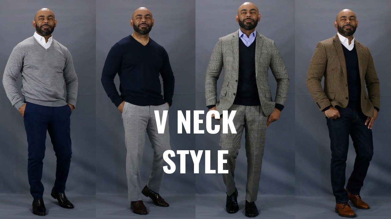 a8281e8cbd How To Wear A V Neck Sweater. The Style O.G.
