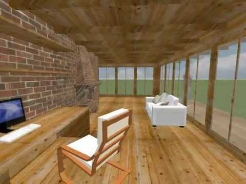 Sweet home 3d wooden house youtube for Sweet home 3d mobili