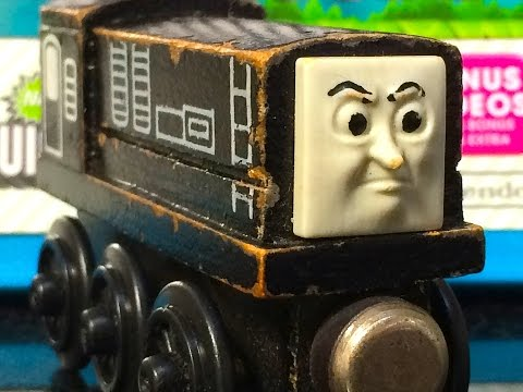Thomas & Friends DIESEL Wooden Railway Toy Train Review By Mattel Fisher Price