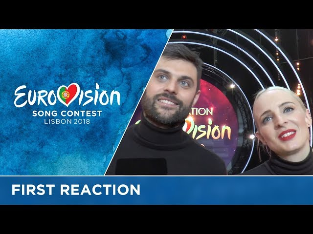 First reaction of Madame Monsieur after winning Destination Eurovision