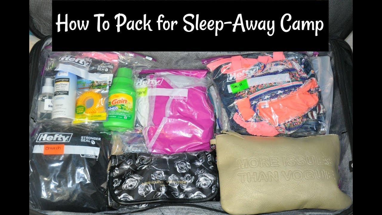 How To Pack For Summer Sleep Away Camp Suitcase Amp Carry