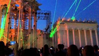 Открытие фестиваля искусств на ВДНХ. Лазерное шоу