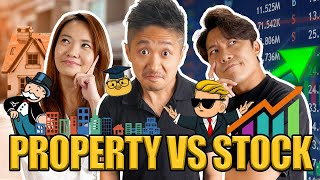 Which is Better? Property or Stocks? | Chicken Genius, Benny, Qiuyu | Café Money EP 20