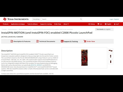 Introduction to LAUNCHXL-F28069M Launchpad (CCS and Simulink Demo included)