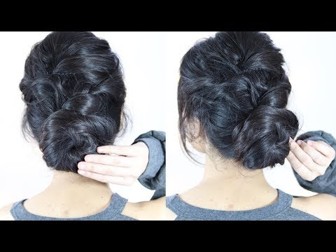 Easy Hair Style Bun & Braid Hairstyles | Bun Hairstyle | Braid Hairstyle thumbnail