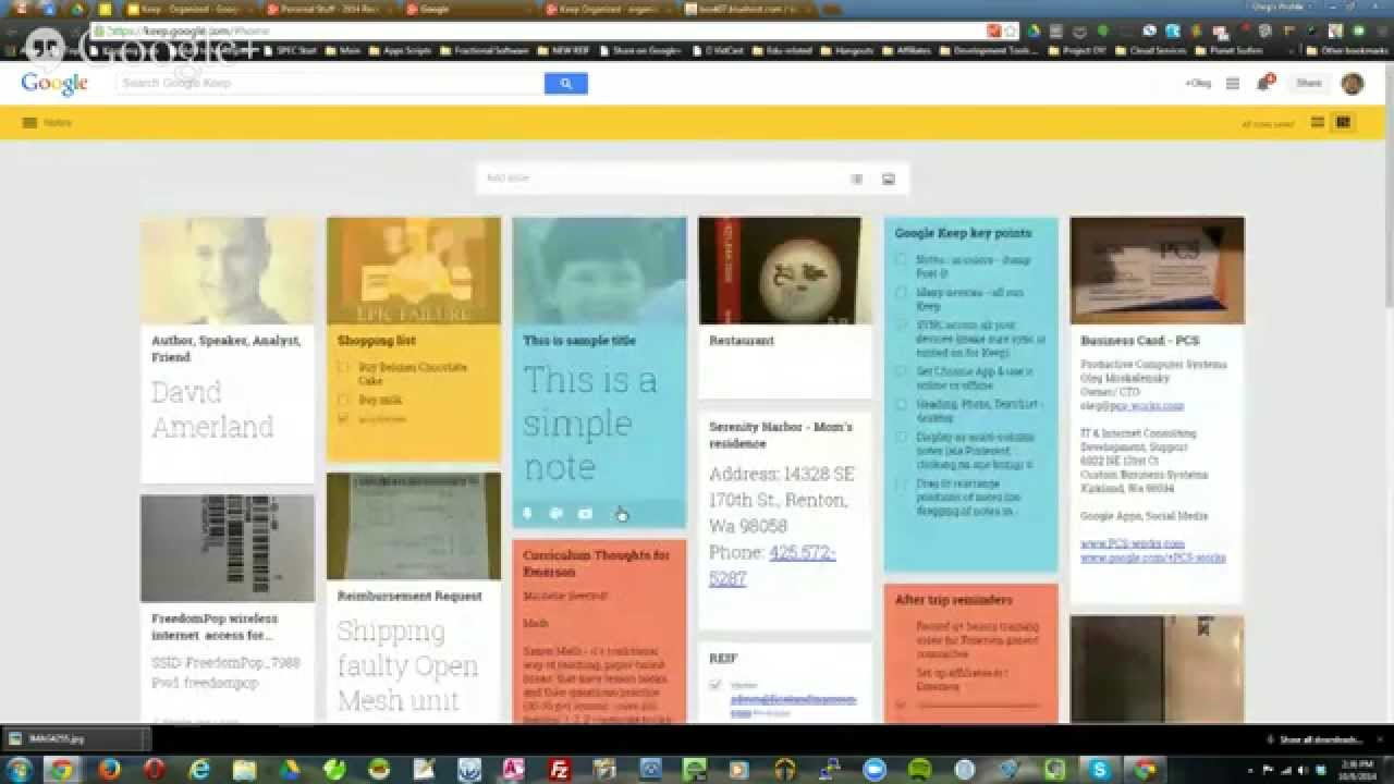 Keep Organized - organize your business using Google Keep