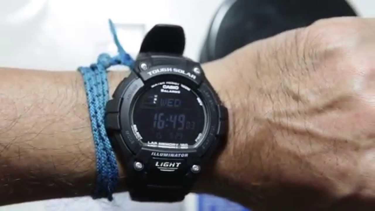 a82a758696d Casio standard W-S220-1B - YouTube
