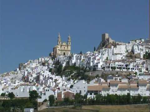スペイン・アンダルシアの白い村 (Olvera) - YouTube