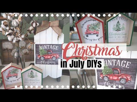 CHRISTMAS IN JULY DIYS   DOLLAR TREE FARMHOUSE CHRISTMAS DIYS