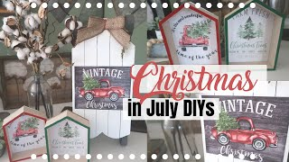 CHRISTMAS IN JULY DIYS | DOLLAR TREE FARMHOUSE CHRISTMAS DIYS