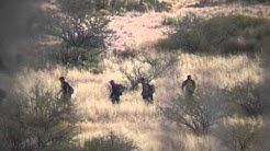 Illegal Immigrants north of Sasabe AZ Nov 2012