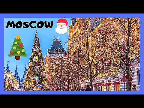 MOSCOW, historic RED SQUARE and the KREMLIN at CHRISTMAS (Russia)