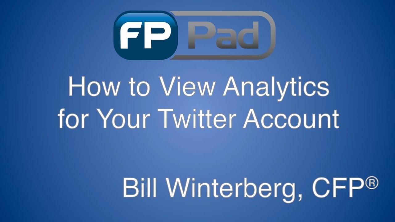 Twitter Analytics for Financial Advisors