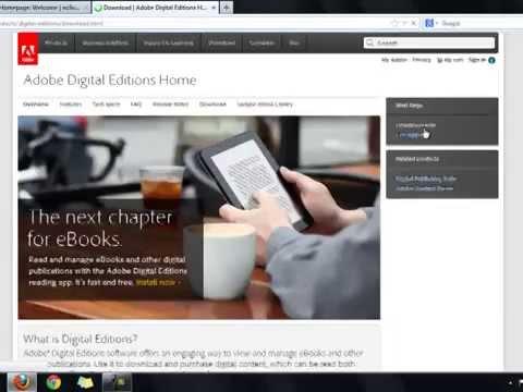 Using Adobe Digital Editions