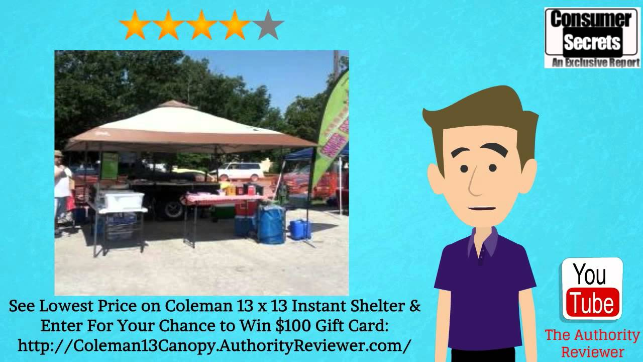 [Review u0026 SALE] Coleman 13 x 13 Back Home Instant Shelter  sc 1 st  YouTube & Review u0026 SALE] Coleman 13 x 13 Back Home Instant Shelter - YouTube