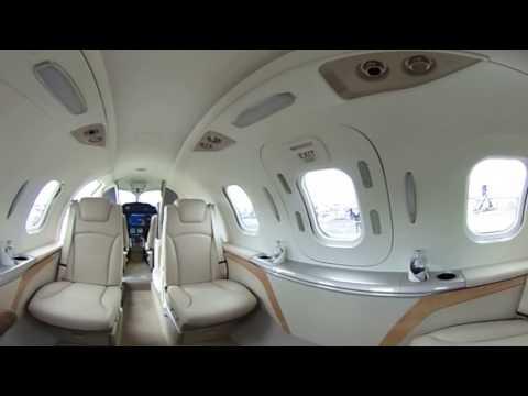 GE Aviation at Farnborough 2016   360 view inside the HondaJet