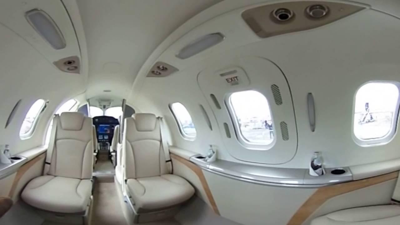 GE Aviation at Farnborough 2016 | 360 view inside the HondaJet - YouTube