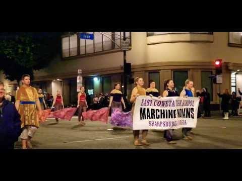 The East Coweta High School Marching Indians - Hollywood Christmas Parade 2019