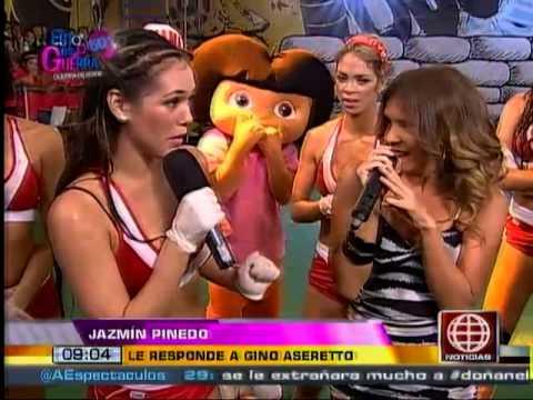 América Noticias:05.03.14-Gino le cantó 'Mi propiedad privada' a Jazmín