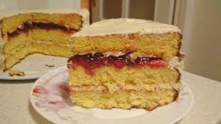 """Торт """"Нежность""""  Безумно Вкусный и Недорогой Бисквитный Торт"""