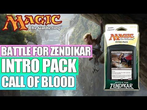 MTG - Battle for Zendikar Intro Pack : Call of Blood (White / Black)
