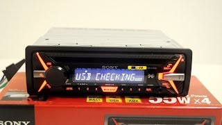 Обзор автомагнитолы Sony cdx-G1100U.