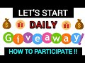 Earn free crypto - Participate in daily giveaway ❤️