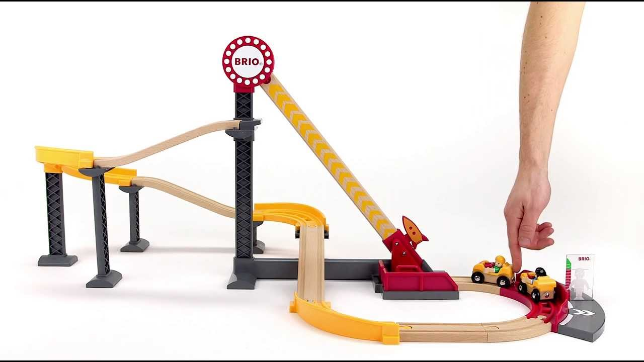 brio world 33730 roller coaster set youtube. Black Bedroom Furniture Sets. Home Design Ideas