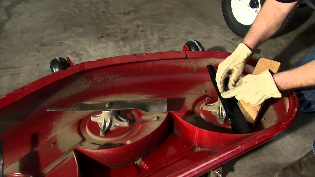 Lawn Mower Blade Maintenance Instructions: Toro TimeCutter  YouTube