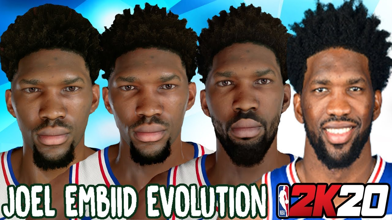 Joel Embiid Ratings and Face Evolution (NBA 2K15 - NBA 2K20)