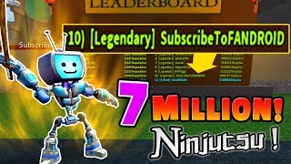 (I'm Top 10 in the world!) Roblox NINJA ASSASSIN Simulator 7+ MILLION NINJUTSU! Weapons and Powers