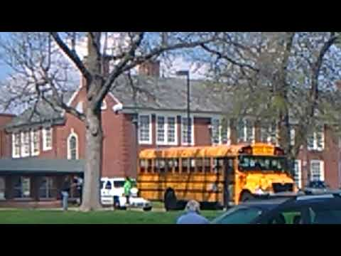 Ferguson Police Department Unit 17 in unit 26 on scene of a bumped bus