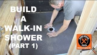 how to build a walkin shower part 1 wedi shower pan ins