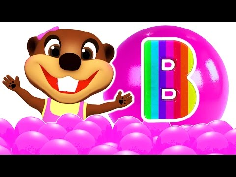 ABC Baby Finger Family Songs Surprise | Play Doh Alphabet, Learn Colors Shapes Toys, Busy Beavers