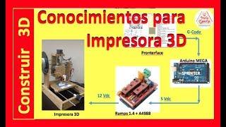 ✅ Pasos para construir una Impresora 3D casera, Programas y hardware #2