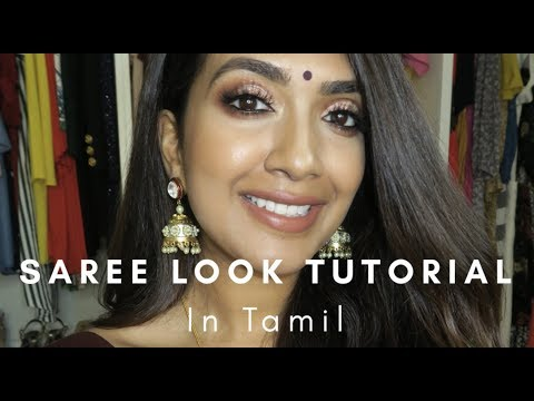 Autumn Saree Look | in Tamil  | Vithya Hair and Makeup Artist thumbnail