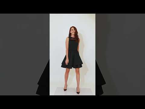 Video: Sukienka z podwójną falbaną i ozdobnymi taśmami