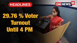 29.76 % Voter Turnout In Hyderabad GHMC Polls Until 4 PM | CNN News18