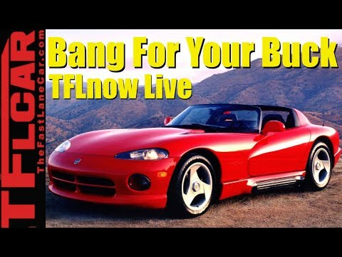 Top 10 Cheapest Cars With The Most Cylinders Revealed : TFLnow Live Show #6