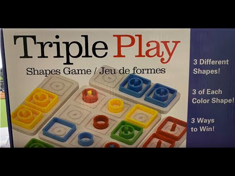 Discovery Toys -- TRIPLE PLAY Shapes Game