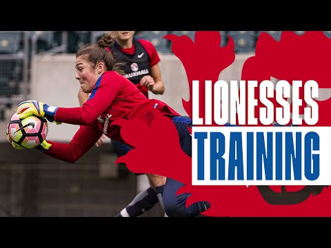 Wet Reaction Saves With England Women Goalkeepers | Inside Training