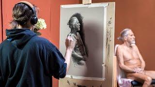 Learn Figure Drawing / Painting from live model - Lerne Aktzeichnen / Aktmalen vom Modell (Workshop)