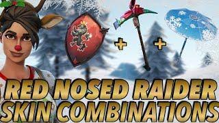 """""""RED-NOSED RAIDER"""" SKIN BEST BACKBLING + SKIN COMBOS! (Season 7) (Fortnite) (2018)"""