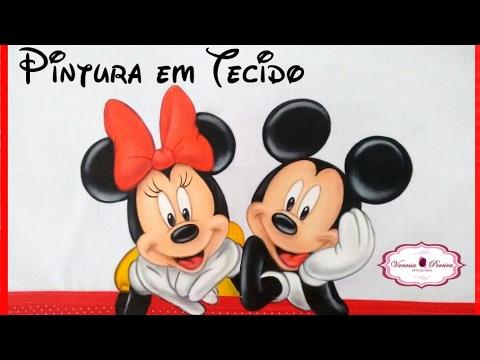Pintando Mickey E Minnie Pintura Em Tecido Vanessa Pereira Youtube