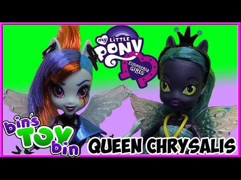 Queen Chrysalis Vs. Rainbow Dash My Little Pony Equestria Girls Dolls! Review By Bin's Toy Bin