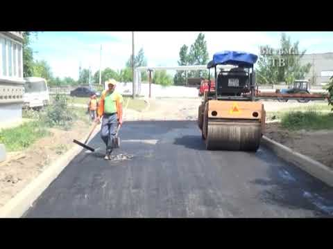 На ул. Строителей завершаются работы по ремонту дорожных покрытий возле домов 10, 10 А, 14.