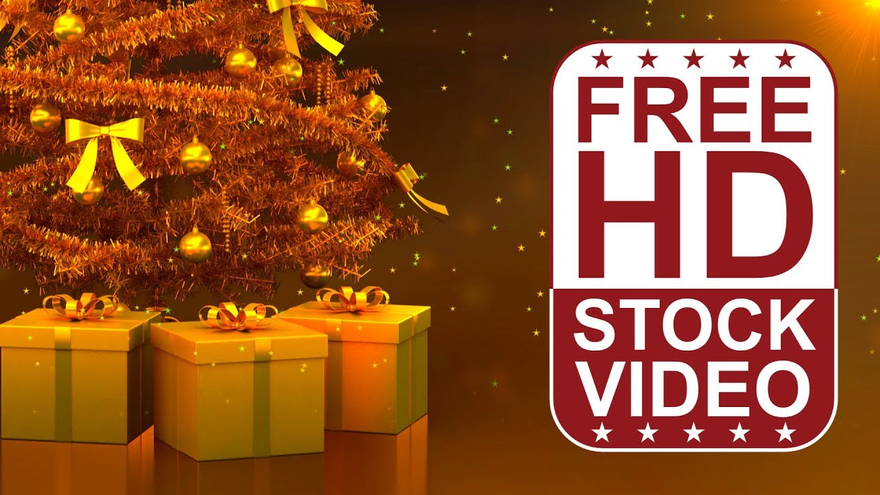 Free Stock Videos Celebrations Gold Christmas Tree