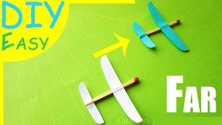 DIY How to Make Crazy Glider Airplane - Paper Match | САМОЛЕТ из спички. Как сделать летающий ПЛАНЕР