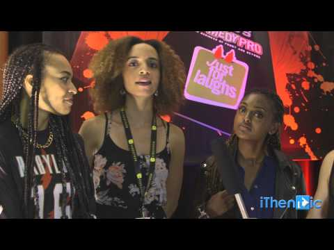 Downtown Girls: Chandra Russell, Crystal Boyd & Emebeit Beyene at Just for Laughs 2014