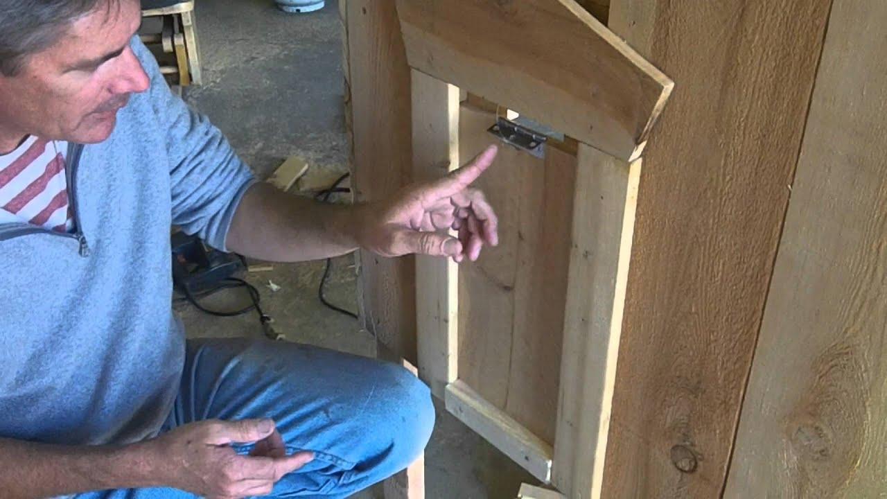 sliding chicken coop door